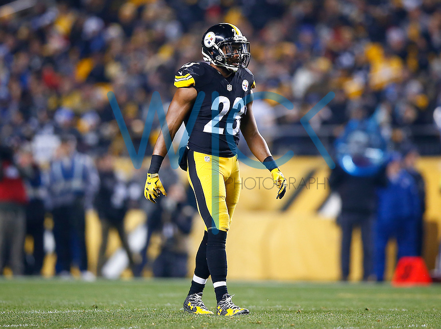 Mike Mitchell #23 of the Pittsburgh Steelers in action against the Indianapolis Colts during the game at Heinz Field on December 6, 2015 in Pittsburgh, Pennsylvania. (Photo by Jared Wickerham/DKPittsburghSports)