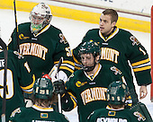 Brody Hoffman (UVM - 37), John Vazzano (UVM - 1), Nick Bruneteau (UVM - 4) - The Boston College Eagles defeated the University of Vermont Catamounts 4-1 on Friday, February 1, 2013, at Kelley Rink in Conte Forum in Chestnut Hill, Massachusetts.