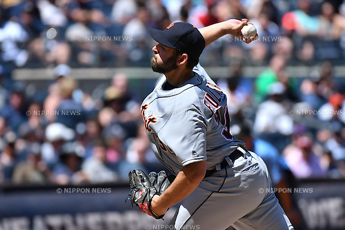 Michael Fulmer (Tigers),<br /> JUNE 12, 2016 - MLB :<br /> Michael Fulmer of the Detroit Tigers during the Major League Baseball game against the New York Yankees at Yankee Stadium in the Bronx, New York, United States. (Photo by Hiroaki Yamaguchi/AFLO)