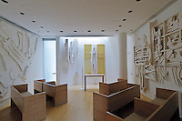 Saint Peter's Church, interior designed by Vignelli, art work by Louise Nevelson,  Manhattan, New York City, New York, USA