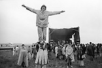 Free festival at Stonehenge Summer Solstice during the summer solstice. 1976...