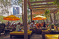 Bryant Park, privately-managed public park located Manhattan, Restaurant, New York City, New York, USA