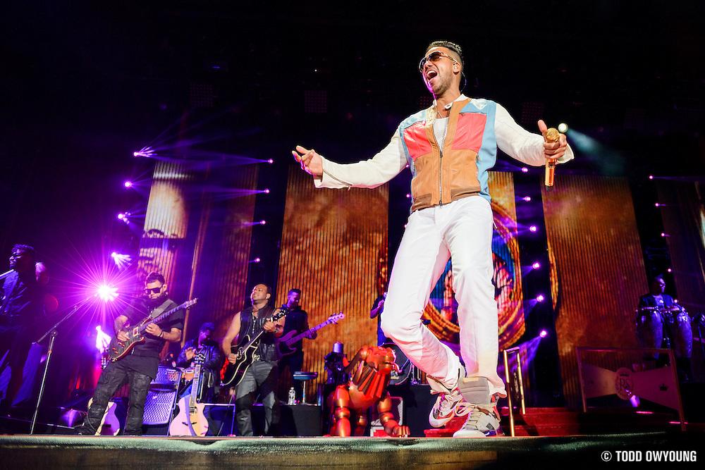 Romeo Santos performing at Yankee Stadium on July 11, 2014