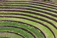 Inca agricultural experimental center in Moray, Peru, South America.