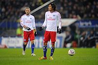 FUSSBALL   1. BUNDESLIGA   SAISON 2011/2012   18. SPIELTAG Hamburger SV - Borussia Dortmund     22.01.2012 Mladen Petric (li) und Paolo Guerrero (re, beide Hamburg) enttaeuscht
