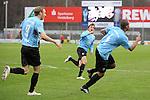 Sandhausen 05.12.2009, 3. Liga SV Sandhausen - FC Ingolstadt 04, Torjubel von Ingolstadts Moritz Hartmann, Ingolstadts Andreas Buchner und dem Torsch&uuml;tzen Ingolstadts David Pisot<br /> <br /> Foto &copy; Rhein-Neckar-Picture *** Foto ist honorarpflichtig! *** Auf Anfrage in h&ouml;herer Qualit&auml;t/Aufl&ouml;sung. Ver&ouml;ffentlichung ausschliesslich f&uuml;r journalistisch-publizistische Zwecke. Belegexemplar erbeten.
