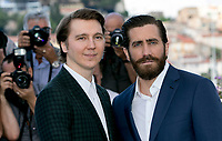 Actors Paul Dano (L) and Jake Gyllenhaal  attend the photocall of the movie 'Okja' during the 70th Annual Cannes Film Festival at Palais des Festivals in Cannes, France, on 19 May 2017. - NO WIRE SERVICE · Photo: Hubert Boesl/dpa /MediaPunch ***FOR USA ONLY***