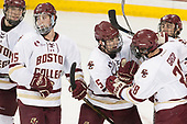 Michael Kim (BC - 4), JD Dudek (BC - 15), Casey Fitzgerald (BC - 5), Matthew Gaudreau (BC - 21), Ron Greco (BC - 28) - The Boston College Eagles defeated the visiting Providence College Friars 3-1 on Friday, October 28, 2016, at Kelley Rink in Conte Forum in Chestnut Hill, Massachusetts.The Boston College Eagles defeated the visiting Providence College Friars 3-1 on Friday, October 28, 2016, at Kelley Rink in Conte Forum in Chestnut Hill, Massachusetts.
