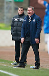 St Johnstone v Rangers...14.01.12  .Ally McCoist screams at ref Craig Thomson.Picture by Graeme Hart..Copyright Perthshire Picture Agency.Tel: 01738 623350  Mobile: 07990 594431
