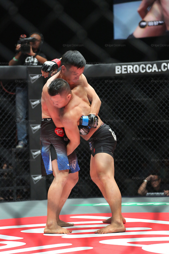 Saiful Merican, 1st ranked WMA featherweight, fights Melvin Yeoh, South Malaysia Muay Thai Champion<br />