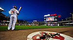 21 June 2010: Washington Nationals' infielder Cristian Guzman stands on deck during a game against the Kansas City Royals at Nationals Park in Washington, DC. The Nationals edged out the Royals 2-1 in the first game of their 3-game interleague series, snapping a 6-game losing streak. Mandatory Credit: Ed Wolfstein Photo