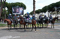 Police on horseback for public order management in Rome