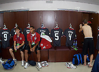 Alex Shinsky and Stefan Jerome in the locker room. US Men's National Team Under 17 defeated Malawi 1-0 in the second game of the FIFA 2009 Under-17 World Cup at Sani Abacha Stadium in Kano, Nigeria on October 29, 2009.