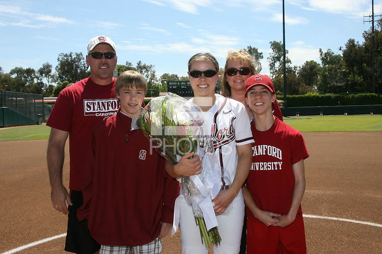 27 April 2008: Stanford Cardinal Anna Beardman during Stanford's 4-1 loss against the UCLA Bruins at the Boyd and Jill Smith Family Stadium in Stanford, CA.