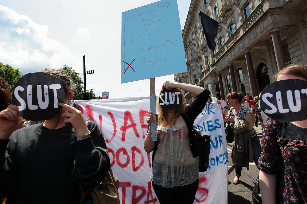 The Slut walk movement in London in response to some unfortunate comments by ...