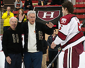 Sid Greeley (Harvard '47), Richard Greeley (Harvard '49) - The Harvard University Crimson defeated the Princeton University Tigers 3-2 on Friday, January 31, 2014, at the Bright-Landry Hockey Center in Cambridge, Massachusetts.