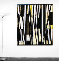 Artist:<br /> In House Rentals: Contemporary<br /> Reference #<br /> 2745_100dp<br /> Title<br /> Evans: <br /> Dims.<br /> 55.25&quot; x 63.25&quot; x 2&quot; <br /> Framed<br /> Black Float <br /> Medium<br /> Digital Print <br /> Price<br /> Available upon request