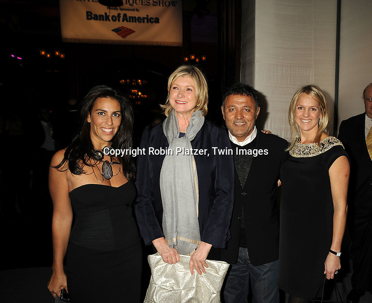 Rory Tahari, Martha Stewart and Elie Tahari and Leslie Brille..at The 55th Annual Winter Antiques Show opening night on January 22, 2009 at The Park Avenue Armory at 67th Street and Park Avenue in New York City. ....Robin Platzer, Twin Images
