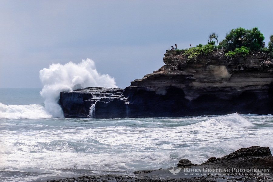 Bali, Tabanan, Tanah Lot. Tanah Lot means Land Sea. Another cliff close to the temple.