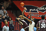 Mississippi State's Dee Bost (3) vs. Ole Miss' Terrance Henry (1) at the C.M. &quot;Tad&quot; Smith Coliseum in Oxford, Miss. on Wednesday, January 18, 2012. (AP Photo/Oxford Eagle, Bruce Newman).