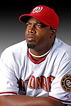 25 February 2007: Washington Nationals pitcher Jerome Williams poses for his Photo Day portrait at Space Coast Stadium in Viera, Florida.<br /> <br /> Mandatory Photo Credit: Ed Wolfstein Photo<br /> <br /> Note: This image is available in a RAW (NEF) File Format - contact Photographer.