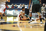 Ole Miss Lady Rebels' Amber Singletary (20) vs. Mississippi Valley State's Lenise Stallings (20) at the C.M. &quot;Tad&quot; Smith Coliseum in Oxford, Miss. on Tuesday, November 27, 2012.