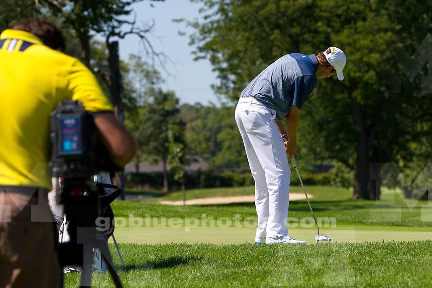 The University of Michigan men's golf team won the Michigan Intercollegiate Tournament at the University of Michigan Golf Course in Ann Arbor, Mich., on Sept. 7, 2014.