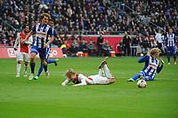 VOETBAL: AMSTERDAM: 16-04-2017, AJAX - SC Heerenveen, uitslag 5 - 1, Kasper Dolberg wordt onderuit gehaald in het zestien meter gebied door Morten Thorsby en benut vervolgens de penalty 4-1, ©foto Martin de Jong