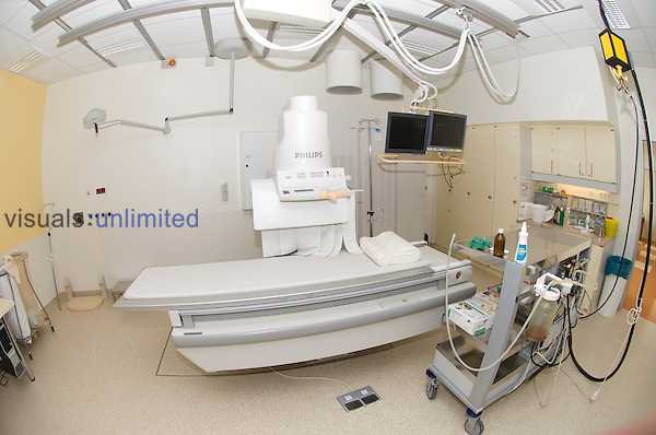 A hospital theatre specially equiped to perform ERCP  (endoscopic retrograde cholanglogopancreaticopgraphy). Royalty Free