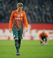 FUSSBALL   1. BUNDESLIGA   SAISON 2011/2012    17. SPIELTAG FC Schalke 04 - SV Werder Bremen                            17.12.2011 Florian Trinks (SV Werder Bremen) enttaeuscht