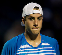 John ISNER (USA) against Juan Carlos FERRERO (ESP) in the third round of the men's singles. Juan Carlos Ferrero beat John ISner 6-2 3-6 6-3 ..International Tennis - 2010 ATP World Tour - Sony Ericsson Open - Crandon Park Tennis Center - Key Biscayne - Miami - Florida - USA - Sun 28th Mar 2010..© Frey - Amn Images, Level 1, Barry House, 20-22 Worple Road, London, SW19 4DH, UK .Tel - +44 20 8947 0100.Fax -+44 20 8947 0117