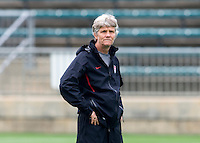 Pia Sundhage. The USWNT practice at WakeMed Soccer Park in preparation for their game with Japan.
