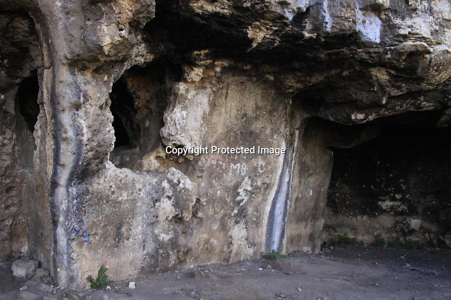 Israel, Shephelah, caves at the Monks' Valley in Ben Shemen forest