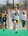 9 April 2008: University of Vermont Catamounts' Attackman Kaitlyn Fuller, a Sophomore from Jordan, NY, in action against the University of New Hampshire Wildcats at Moulton Winder Field, in Burlington, Vermont. The Catamounts rallied to defeat the visiting Wildcats 9-8 in America East divisional play...Mandatory Photo Credit: Ed Wolfstein Photo