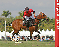 WELLINGTON, FL - MARCH 12:  Rodrigo Andrade of Audi takes the ball to the goal as Orchard Hill defeats Audi 9-8, in the early rounds of the 26 goal USPA Gold Cup at the International Polo Club, Palm Beach on March 12, 2017 in Wellington, Florida. (Photo by Liz Lamont/Eclipse Sportswire/Getty Images)