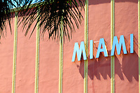 Miami sign on a building