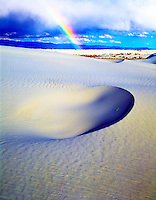 Rainbow at White Sands  White Sands National Monument, New Mexico  Gypsum sand dunes in Tularosa Basin  March