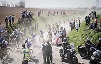 peloton dust storm<br /> <br /> 115th Paris-Roubaix 2017 (1.UWT)<br /> One Day Race: Compi&egrave;gne &rsaquo; Roubaix (257km)