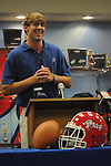 Jackson Prep quarterback Ryan Buchanan announces his commitment to play football at Ole Miss, in Jackson, Miss. on Monday, June 4, 2012.