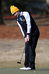 WILMINGTON, NC - MARCH 19: Kent State's Josh Whalen (CAN) drains a putt on the Ocean Course fifth hole. The first round of the 2017 Seahawk Intercollegiate Men's Golf Tournament was held on March 19, 2017, at the Country Club of Landover Nicklaus Course in Wilmington, NC.