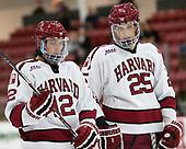 John Marino (Harvard - 12), Wiley Sherman (Harvard - 25) - The Harvard University Crimson defeated the US National Team Development Program's Under-18 team 5-2 on Saturday, October 8, 2016, at the Bright-Landry Hockey Center in Boston, Massachusetts.