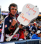 """19 October 2008:  Buffalo Bills' fan """"Elvis"""" celebrate a victory over the San Diego Chargers at Ralph Wilson Stadium in Orchard Park, NY. The Bills defeated the Chargers 23-14 and maintain their first place position in the AFC East with a 5 and 1 record...Mandatory Photo Credit: Ed Wolfstein Photo"""