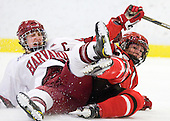 Kate Buesser (Harvard - 20), Kelly Sabatine (St. Lawrence - 16) - The Harvard University Crimson defeated the St. Lawrence University Saints 8-3 (EN) to win their ECAC Quarterfinals on Saturday, February 26, 2011, at Bright Hockey Center in Cambridge, Massachusetts.