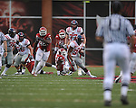 Ole Miss running back Brandon Bolden (34) runs against the Arkansas Razorbacks at Reynolds Razorback Stadium in Fayetteville, Ark. on Saturday, October 23, 2010.