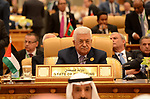 Palestinian President Mahmoud Abbas attends the Arab American Islamic summit in the Saudi capital Riyadh on May 21. 2017. Photo by Thaer Ganaim