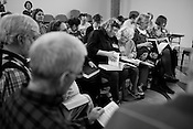 Sacred Harp Convention, or a gathering of shape-note singers at Pullen Memorial Baptist, Raleigh, Saturday, March 3, 2012.