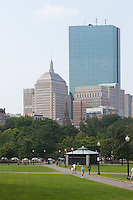 The John Hancock Building and part of the Boston skyline as viewed from the Boston Common