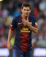 FUSSBALL  INTERNATIONAL Testspiel 2012/2013  08.08.2012 Manchester United  - FC Barcelona  Lionel Messi (Barca)