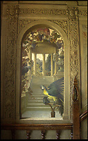 Bmth News (01202 558833)<br /> Pic: PhilYeomans/BNPS<br /> <br /> Trompe L'oeil staircase at Parnham House in Dorset in 2001 when owned by renowned furniture designer John Makepeace.<br /> <br /> Historic Parnham House near Beaminster in Dorset has been destroyed by a fire that started in the early hours of this morning.