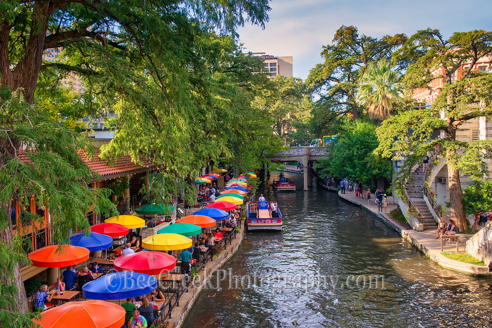 Just can't resist these colorful unmbrellas on the riverwalk in downtown San Antonio.  Casa Rio the oldest restaurant on the riverwalk has some of the most  colorful umbrellas and the food is pretty good too.Watermark will not appear on image